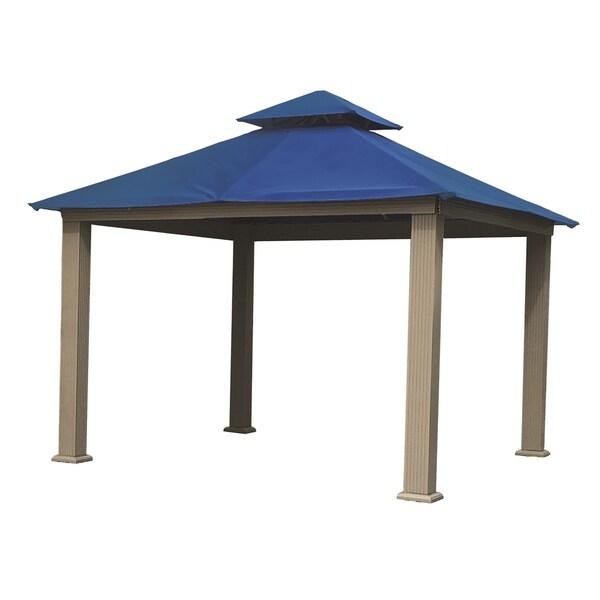 Shop Riverstone Industries Acacia Gazebo With Sun Dura Fabric 12 X