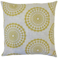 Elyes Geometric 18-inch Cotton Throw Feather and Down Filled Throw Pillow