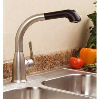 Lily Cleanflo Pull Out Kitchen Faucet (Option: White Finish)