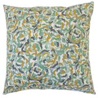 Junayd Graphic 18-inch Cotton Throw Feather and Down Filled Throw Pillow