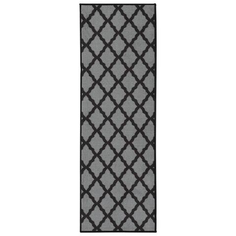 Ottomanson Glamour Trellis Non-Slip Runner or Area Rug