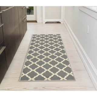 """Ottomanson Pink Collection Moroccan Trellis with Non-Slip Rubber backing Area Rug (20 inches x 59 inches) - 2' x 5'/1'8"""" x 4'11"""" (3 options available)"""