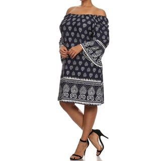 MOA Collection Women's Plus Size Knit Dress