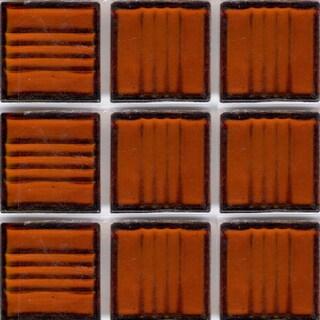 Clear Brown Glass Brio 3/4-inch Mosaic Tile