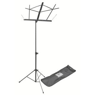 On Stage Folding Music Stand with Black Carrying Bag