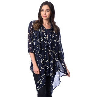 Women's Dove Print Kimono Shirt