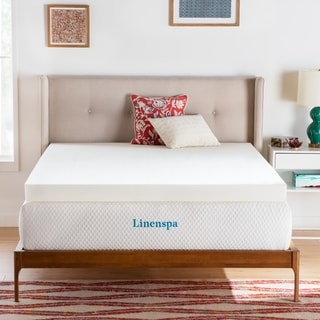 LUCID 4-inch Memory Foam Mattress Topper