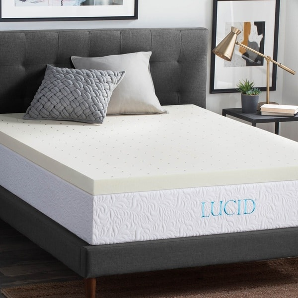lucid 3inch ventilated memory foam mattress topper