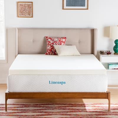 Linenspa Essentials 3 Inch ActiveRelief™ Memory Foam Mattress Topper - White