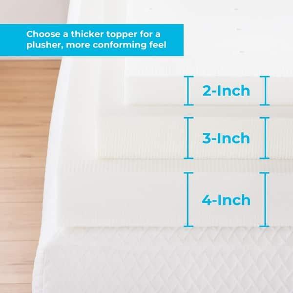 Shop Linenspa Essentials 3 Inch ActiveRelief™ Memory Foam Mattress