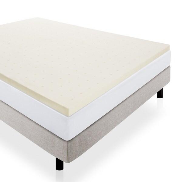 LUCID Ventilated 2 inch Memory Foam Mattress Topper Free