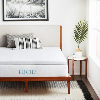 LUCID Ventilated 2.5-inch Gel Memory Foam Mattress Topper with Removable Cover