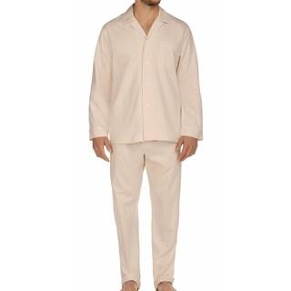 Majestic Men's Signature Herringbone Long Sleeve Cotton Pajama Set (More options available)