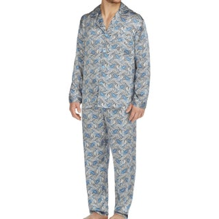 Cypress Men's Silk Charmeuse Long Sleeve Pajama Set (4 options available)