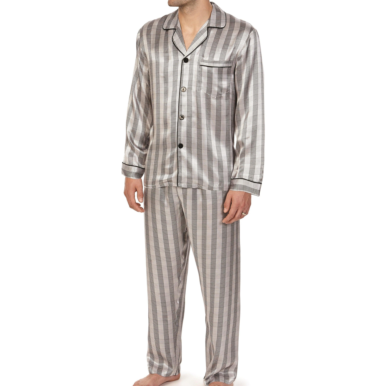 Majestic Men's Knights in Shining Silk Long Sleeve Pajama...