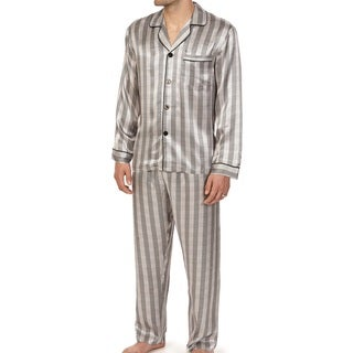 Majestic Men's Knights in Shining Silk Long Sleeve Pajama Set