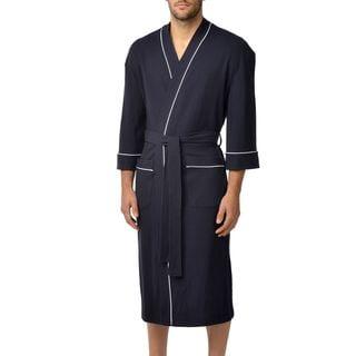 Majestic Men's Big and Tall Waffle Knit Lounge Kimono