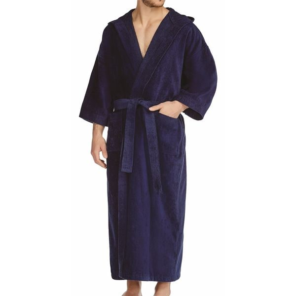 Shop Majestic Men s Maxi Hooded Terry Velour 56-inch Robe - Free ... 5b1807bda