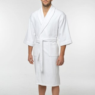 Majestic Men's Solid Cotton Terry Shawl Robe (Option: White - L/Y/L/XL)