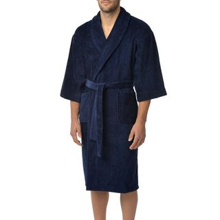 Majestic Men's Solid Cotton Terry Shawl Robe