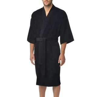 Majestic Men's Basic Cotton Terry Velour Kimono