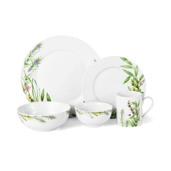 Mikasa Herbal Fields 20-Piece Dinnerware Set  sc 1 st  Overstock : mikasa plate set - pezcame.com