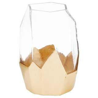 Mikasa 9-Inch Gold Bottom Clear Glass Hurricane