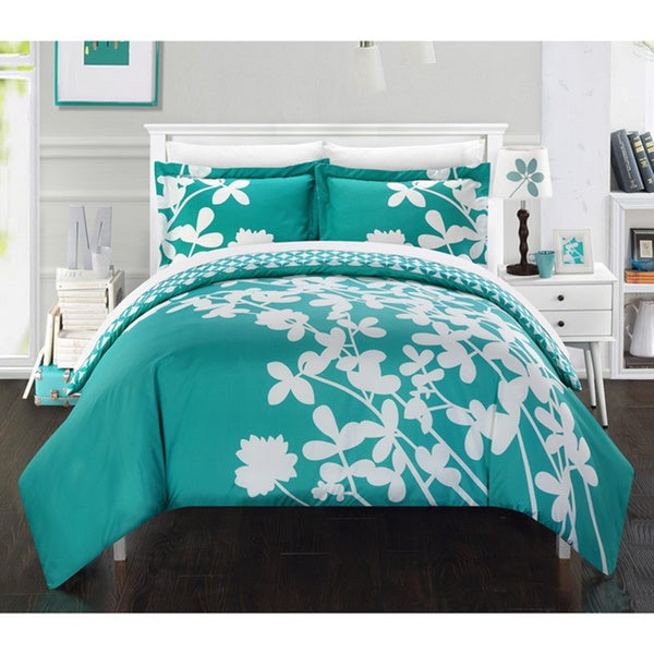Chic Home Casa Blanca Turquoise Reversible 3-Piece Duvet Cover Set