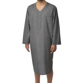 Majestic Men's Basics 100-percent Cotton Nightshirt (Option: M)|https://ak1.ostkcdn.com/images/products/10868192/P17906075.jpg?impolicy=medium