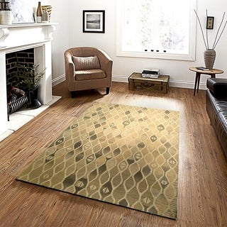 Integrity 'Wounded Warrior Donator' Oatmeal Hand-crafted LR12012 Rug (7'9 x 9'9)