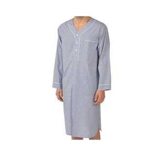 Majestic Men's Cobalt Woven Long Sleeve Nightshirt