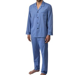 Majestic Men's Cvc End On End Basic Long Sleeve Pajama Set