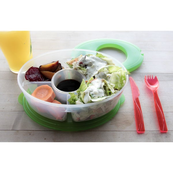 six piece salad to go lunch box free shipping on orders. Black Bedroom Furniture Sets. Home Design Ideas
