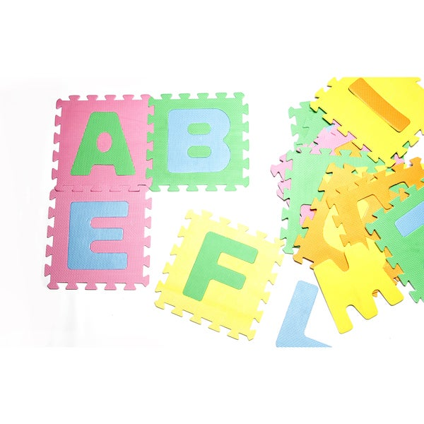 Innovative Living Soft Interlocking Foam Alphabet Floor Mat (BPA free)