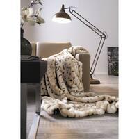 IBENA Luxury Leopard Faux Fur Throw Blanket