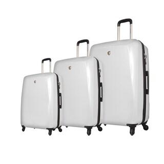 Mia Toro Italy Fibre Di Carbonio Moderno 3-piece Expandable Hardside Spinner Luggage Set