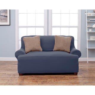 Home Fashion Designs Lucia Collection Corduroy Form Fit Love Seat Protector Slip Cover