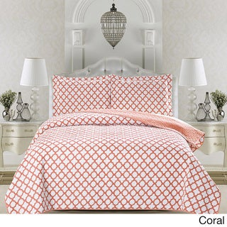 Home Fashion Designs Madison Collection 3-Piece Printed Quilt Set with Shams