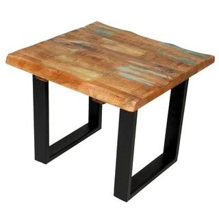 Handmade Wanderloot Reclaimed Hardwood Square Side Table (India)