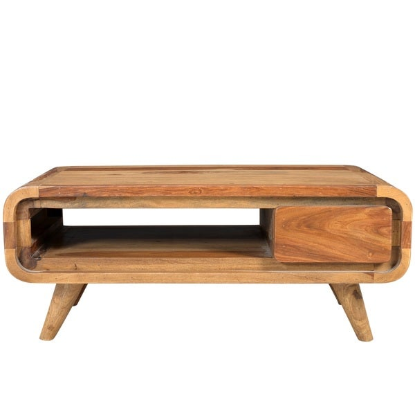 Wanderloot Oslo Solid Sheesham Coffee Table With Drawer India Free Shipping Today