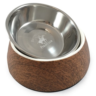 Beverly Hills Polo Club Melamine and Stainless Steel Bowl