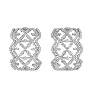 18k White Gold 1 5/8ct TDW Diamond Earrings