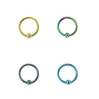 Supreme Jewelry 16g 4-pack Captive Hoop