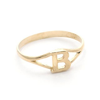 Pori 10k Yellow Gold Initial Ring (Size 7)