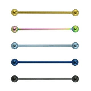 Supreme Jewelry Surgical Steel Barbell 3-pack Industrial Earrings