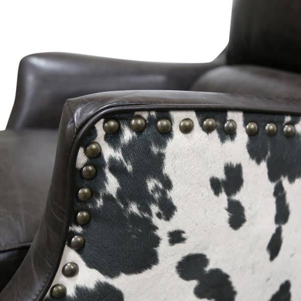 Shop Porter Wrangler Espresso And Cow Print Bonded Leather