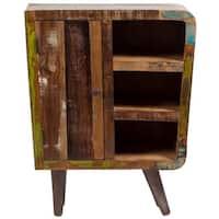 Handmade Wanderloot Route 66 Reclaimed Wood Three-shelf Sideboard (India)