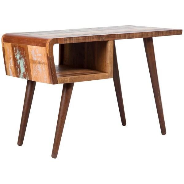 Handmade Wanderloot Route 66 Reclaimed Wood Desk (India)