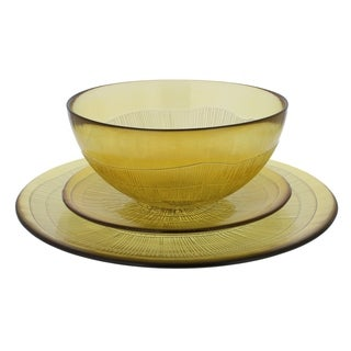 French Home Recycled Glass Caramel Dinner Set