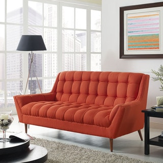 Response Fabric Mid Century Tufted Loveseat
